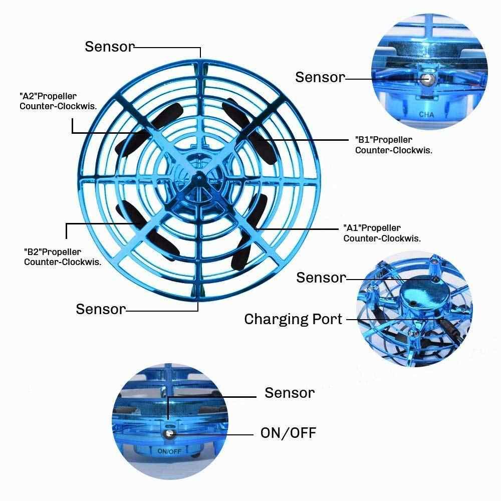 ミニフライングヘリコプター UFO RC ドローン手感知航空機電子モデル Quadcopter flayaball おもちゃ小さな drohne 子供のための