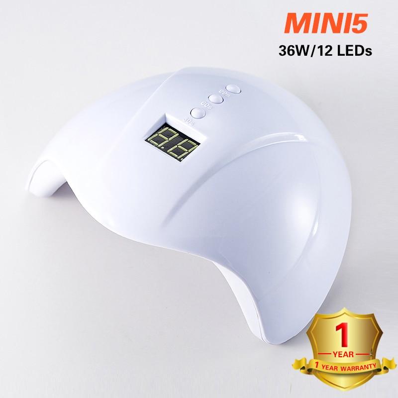 UV Lamp For Manicure 36W LED Nail Dryer Lamp Sun Light Curing All Gel Polish Drying UV Gel USB Smart Timing Nail Art Tools