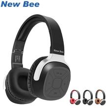 New Bee Беспроводной наушники Bluetooth стерео звук Спорт Bluetooth гарнитура с микрофоном/3,5 мм провода аудио для компьютера/игровые наушники