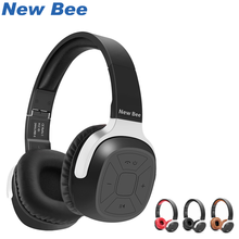 New Bee Wireless Headphones Bluetooth Earphone Stereo sound Sport Headset with Mic/3.5mm Wire Audio For Computer/Gaming