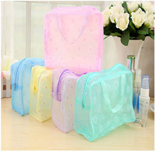 1Pcs PVC Transparent  Cosmetic Bags Clear Waterproof Zipper Makeup Beauty Wash Organizer Toiletry Storage Travel Necessity leaves hanging cosmetic toiletry bags travel organizer beautician necessary functional makeup wash pouch accessories supplies
