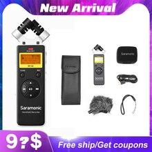 Saramonic SR Q2 Q2M שימושי וידאו אודיו מקליט DSLR למצלמות Smartphone סטריאו מיקרופון ראיון הקלטת מיקרופון