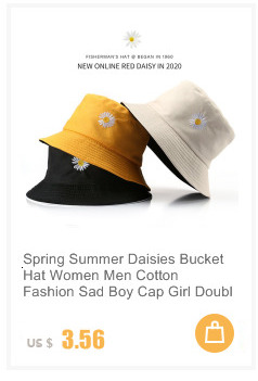 Cartoon Pattern Double-sided Cotton Men Bucket Hat Casual Wild Women Basin Hat Fisherman Hats Outdoor Shade Accessories