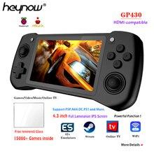 Heynow raspberry pi CM-3L gp430 retro console de jogos 4.3