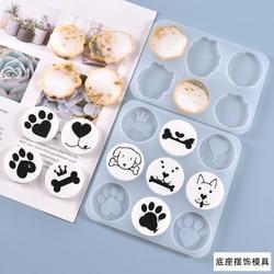 Pet Dog Bone Silicone Mold DIY Crystal Epoxy Resin Creative Decoration Mold Irregular Shape Base Handicraft Table Accessories