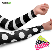WOSAWE Ice Fabric Breathable UV Protection Running Arm Sleeves Fitness Basketball Elbow pad Sport Cycling Outdoor Arm Warmers