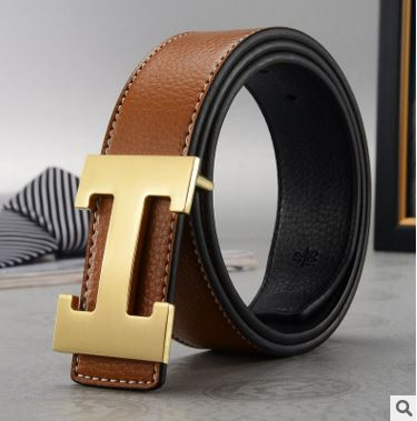 Men Belt Cowhide Genuine...