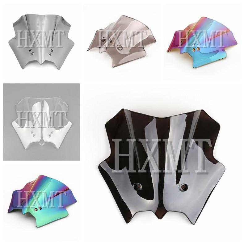 For KTM DUKE 125 200 390 Black KTM390 KTM200 KM125 2012 2013 2014 2015 2016 Motorcycle Windshield WindScreen Double Bubble