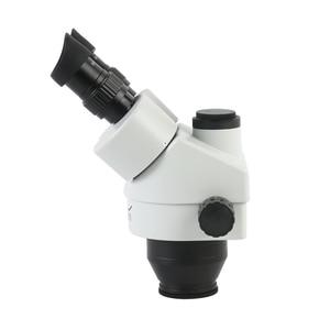 Image 3 - 3.5X 7X 45X 90X Simul Focal Trinocular 스테레오 현미경 헤드 연속 줌 WF10X/20MM 접안 렌즈 보조 대물 렌즈
