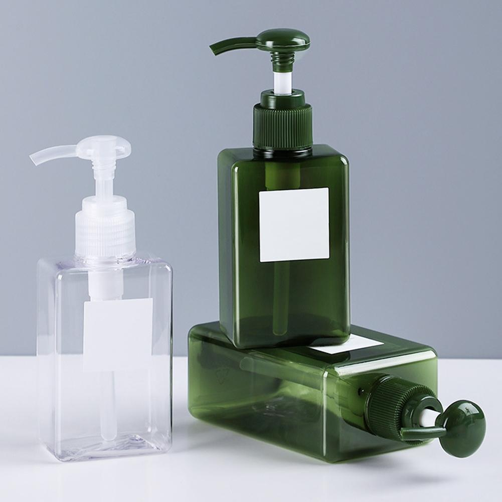 100/150/250ml Home Shower Shampoo Lotion Empty Refillable Pump Dispenser Bottle Transparent Plastic Atomizer Containers