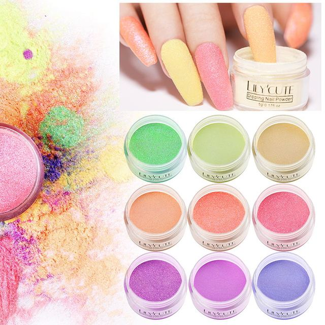 LILYCUTE Holographic Dipping Nail Glitter Powder