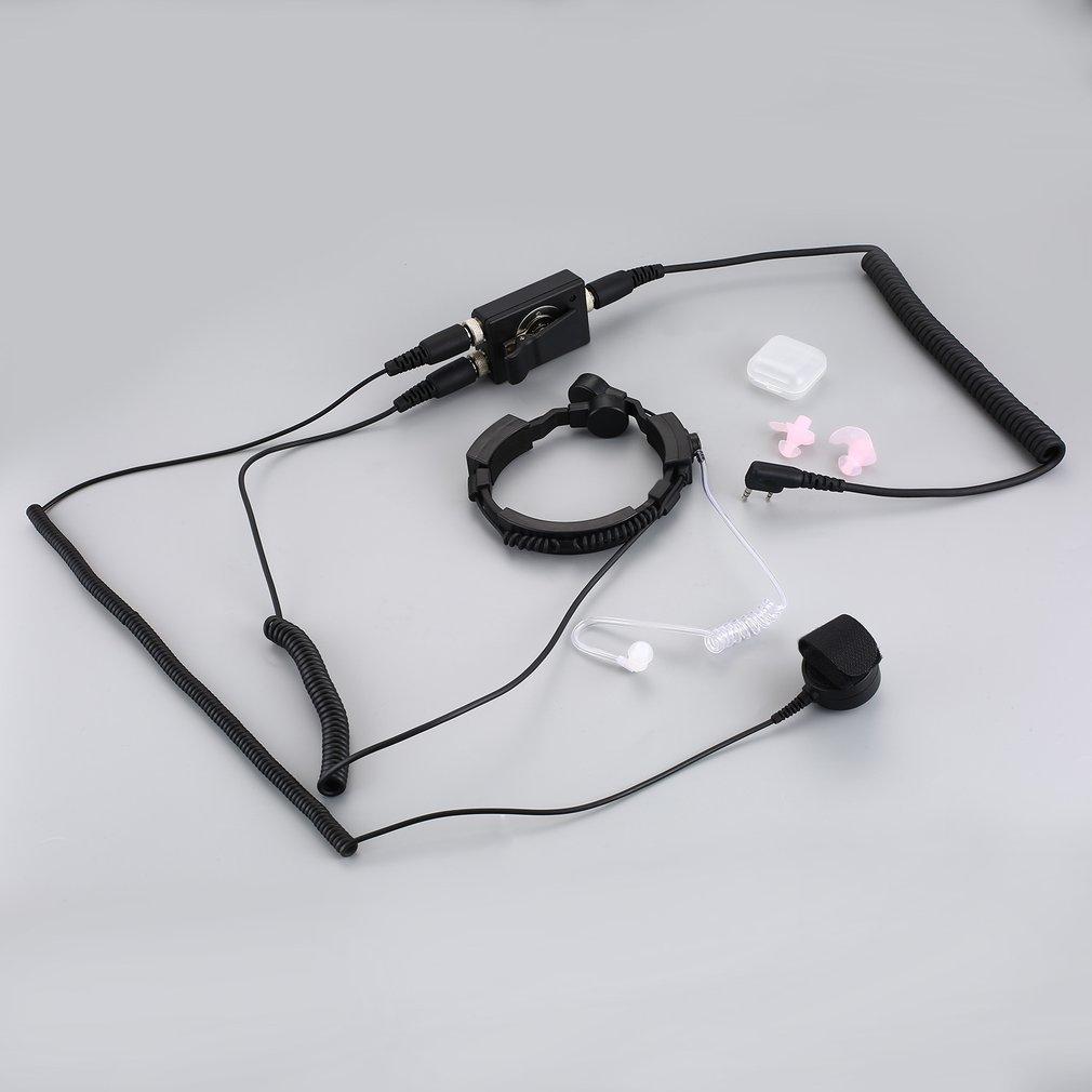 Tactique professionnelle Police militaire FBI Flexible gorge micro Microphone caché Tube acoustique écouteur casque