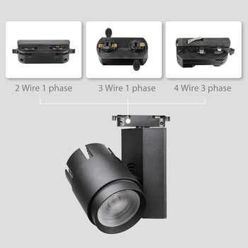 Modern Led Track Lights 30W 40W Rail Spotlight Clothing Shop Showrooms Windows Ceiling Zoomable Track Lighting Fixture