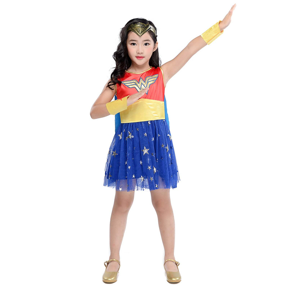 Wonder Woman Movie Girls Dc Superhero Childs Halloween Costume