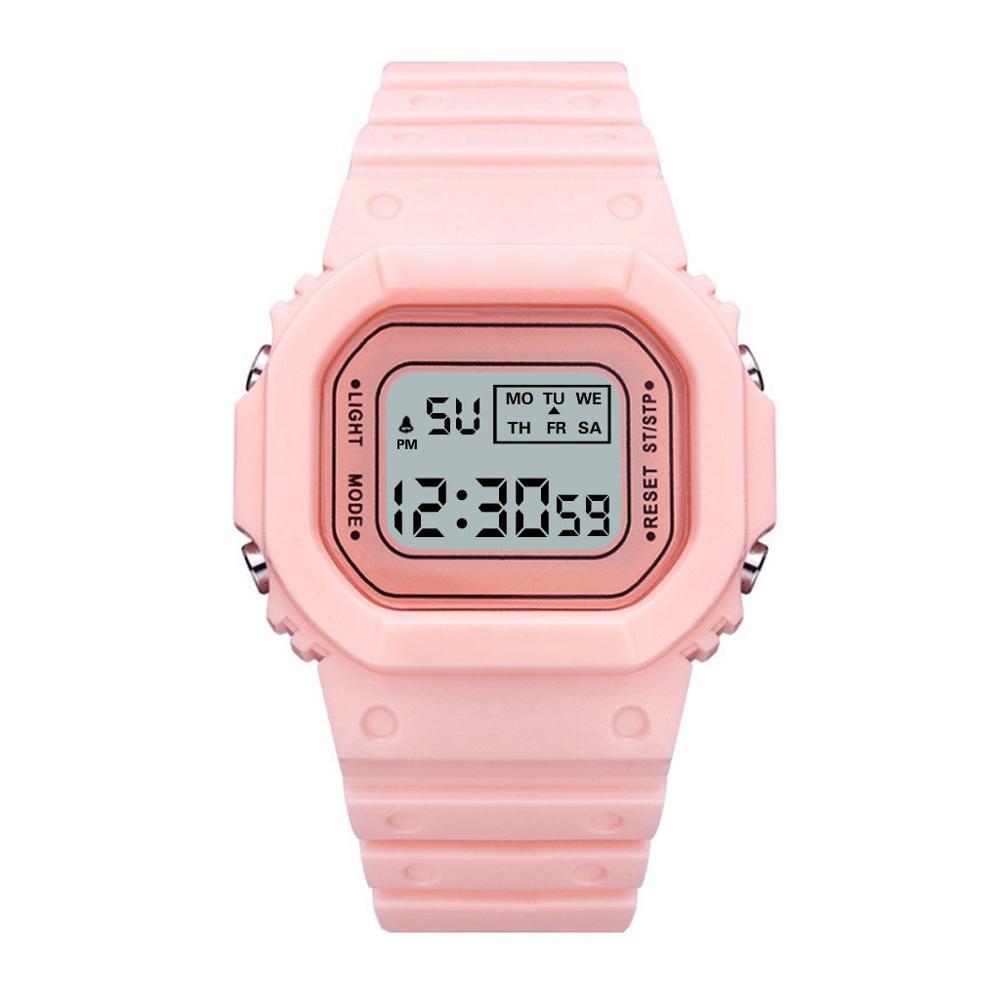 Zegarek sportowy dla dzieci chłopcy dziewczęta wodoodporny zegarek cyfrowy elektroniczny zegarek na rękę LED Student montre enfant zegarek dla dzieci