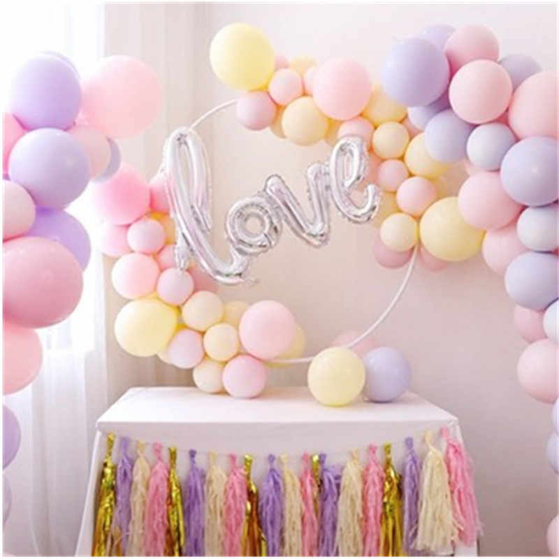 BINGTIAN 15pcs 10inch Baby blauw/Roze Latex Helium Ballonnen Verjaardag Event Party Wedding Macaron Latex Mintgroen decor Baby Sho