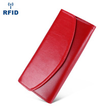 Envelope Women Wallet Genuine Leather Female Purse High Quality Vintage Leather