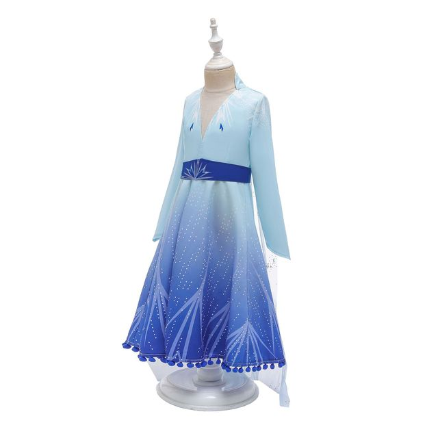 2019 New frozen Anna Elsa 2 Dress Girls Princess Set Christmas Cosplay Elza Birthday Party Costumes Princess Dress For Kids Vest