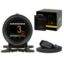 AUTOOL X60 дисплей на голову Hud Obd2 Ii автомобильный считыватель кода двигателя Цифровой измеритель компьютерный Автомобильный спидометр автоматический диагностический инструмент
