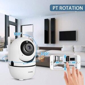 Image 2 - Fuers 1080P IPกล้องTuya APPอัตโนมัติติดตามกล้องรักษาความปลอดภัยภายในบ้านกล้องวงจรปิดไร้สายWiFi Baby Monitor