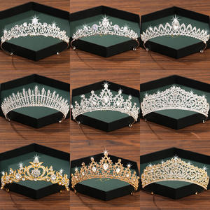 Tiara Hair-Accessories Crown Rhinestone Crystal Silver-Color Bridal Women Diadema And