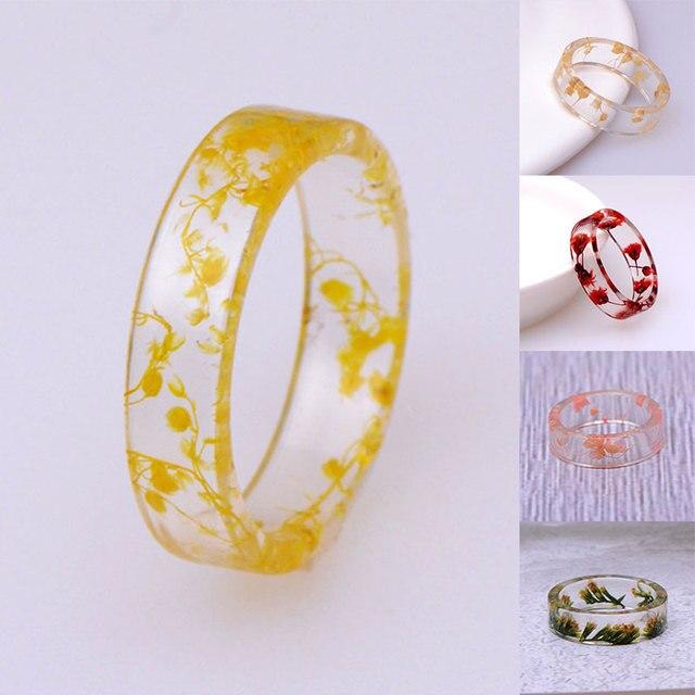 Фото 8 видов цветов diy засушенные цветы кольцо из эпоксидной смолы