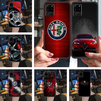 Sport Car Alfa Romeo Phone case For Samsung Galaxy Note 4 8 9 10 20 S3 S5 S8 S9 S10 S20 Plus UITRA Ultra black fashion bumper image