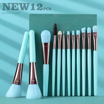 BANFI Blue Makeup Brushes Set Cosmetic Powder Solid Eye Shadow Foundation Blush Blending Beauty Tool Make Up Brush Maquiagem 1