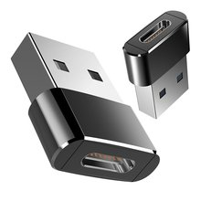 Штекер адаптер USB 3.0 Male To Female Type C Otg Black USB 3.0 A Adapter USB C Converter For Macbook For Nexus For Nokia N1