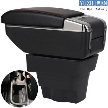 For Opel Astra Armrest Box Opel Astra J Universal Car Central Armrest Storage Box cup holder ashtray modification accessories