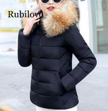 Rubilove 2019 Winter Jacket women Plus Size S-5XL Womens Parkas Thicken Outerwear hooded Coat Female warm b