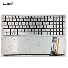 Русская клавиатура для ноутбука ASUS N56 N56V U500VZ N76 R500V R505 N550 N750 Q550 RU, серебристая раскладка с подсветкой, клавиатура для ноутбука