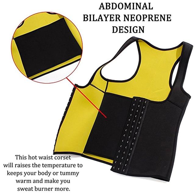 Women Neoprene Waist Trainer Corset Sweat Vest Weight Loss Body Shaper Workout Tank Tops Faja Shapewear Sauna Slimming Belt 2