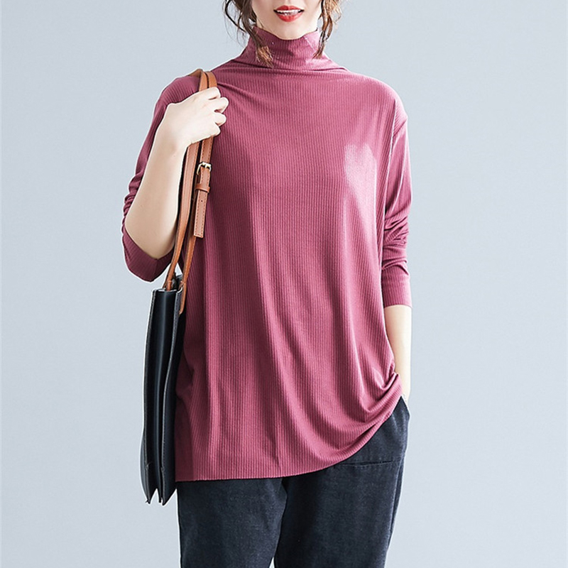 2019 Spring Autumn Oversize Knit Sweater Women Long sleeve Turtleneck Thin Sweaters Female Plus size 5XL