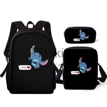 цена School Bags Cartoon Snoopy 3D Print Black Backpacks Children Bookbag Kids Backpack Boys Mochila Escolar Menino онлайн в 2017 году