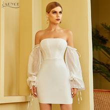 Adyce 2021 Новое Осеннее белое Бандажное платье с открытыми