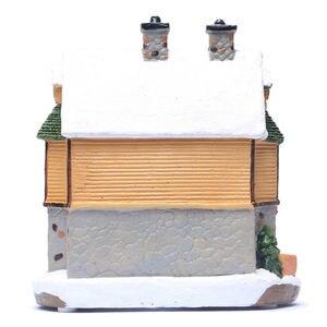 Image 5 - 크리스마스 빌리지 하우스, 크리스마스 겨울 스키 롯지 장식 조명 하우스 장면