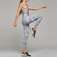 Women Sportwear Leggins Mujer High Waist Push Up Fitness Skinny Running Pants Set Elastic Workout Sports Leggings Trousers Women