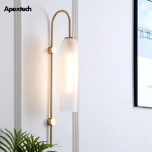 Arte del hierro Deco tubo de vidrio lámpara de pared Post E27 LED lámparas de pared Retro estilo Industrial sala de estar lámparas de habitación de invitados de Hotel