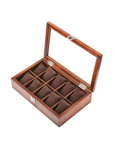Case Organizer Display-Box Top-Watch Watch-Storage Gift-Boxes Wooden Black Packing Fashion