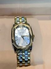 luxury brand lady bracelet watch Yellow Gold color stainless steel geometric watch roman number green dial zircon quartz watch