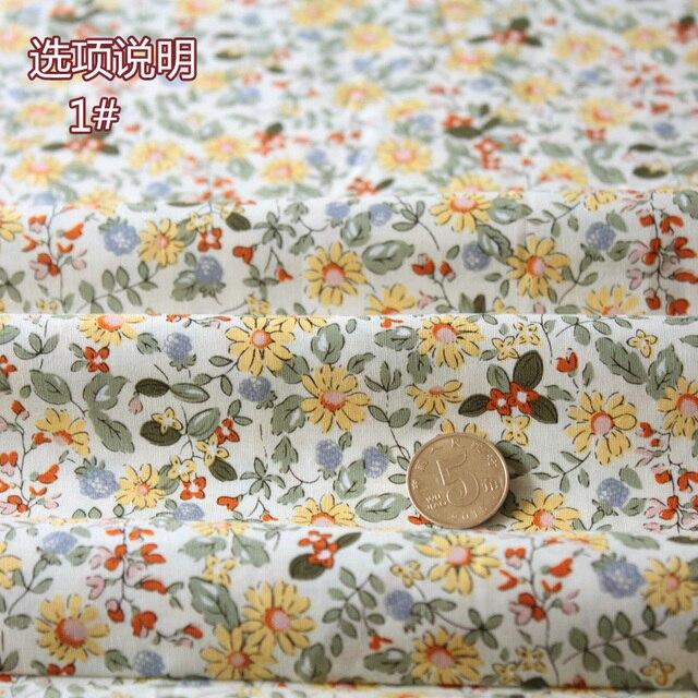 Фото 148x50 см свежая мягкая маленькая цветочная хлопчатобумажная цена