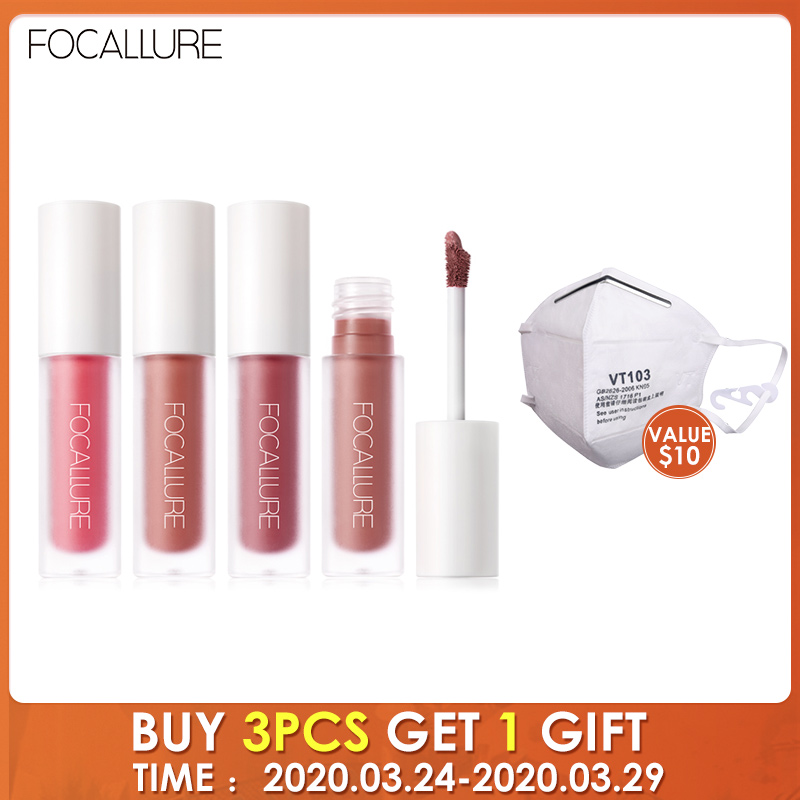 FOCALLURE Matte Velvet Lip Stick Long-lasting Makeup Lip Tint Non-Sticky Cup Cosmetic Matt Liquid Lipstick