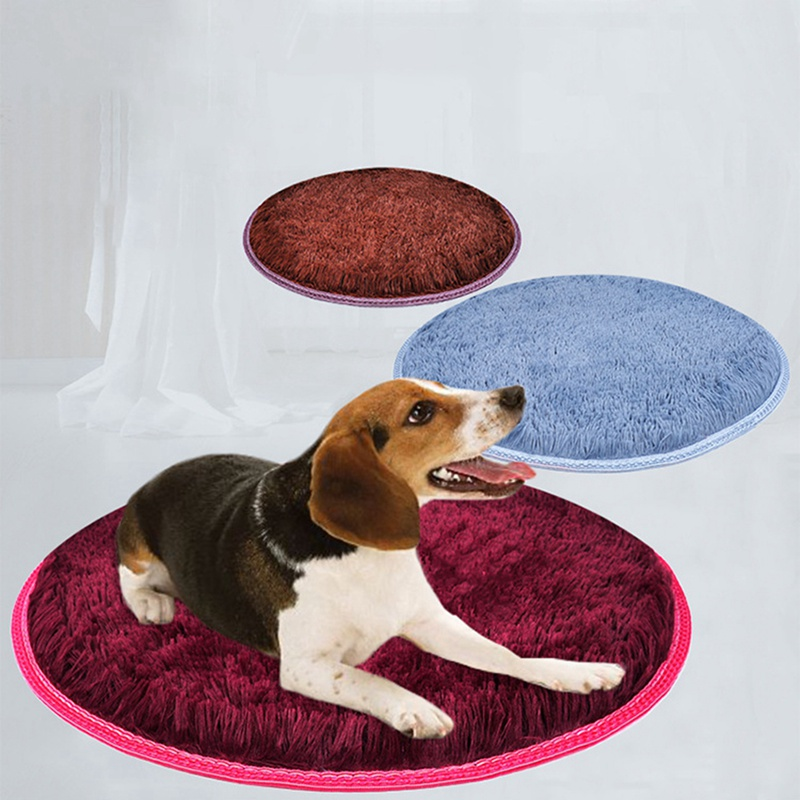 Warm Fleece Dog Bed Round Pet Long Plush Cushion For Small Medium Large Dogs & Cat Winter Dog Kennel Puppy Mat Pet Bed 1