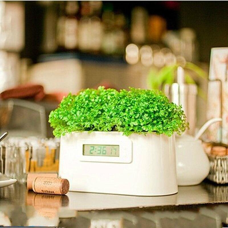 Plant Power Generation Desk Clock  Micro Power Station Super Adorable Farmland Alarm Clock Originality Potato Power Generation
