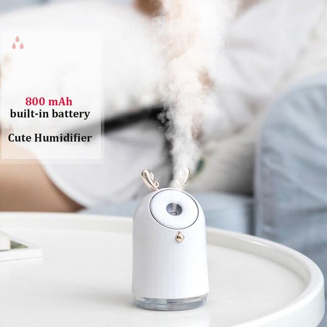 250ML sans fil mignon humidificateur dair USB ultrasons arôme diffuseur dhuile essentielle 800mAh batterie intégrée Rechargeable brumisateur