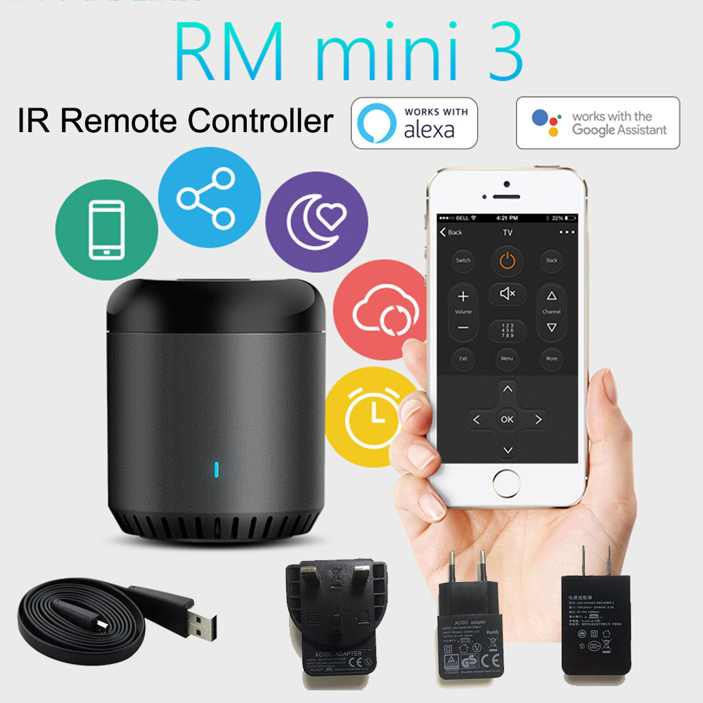 2019Broadlink RM Mini3 Universal Intelligent WiFi/IR/4G Wireless IR Remote Controller Via IOS Android Smart Home Automation  New