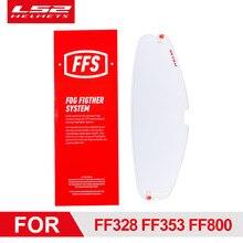 Visière de casque de moto LS2, Film Anti-buée pour LS2 FF320 FF328 FF353 FF800, Patch d'objectif de casque complet avec trous d'épingles