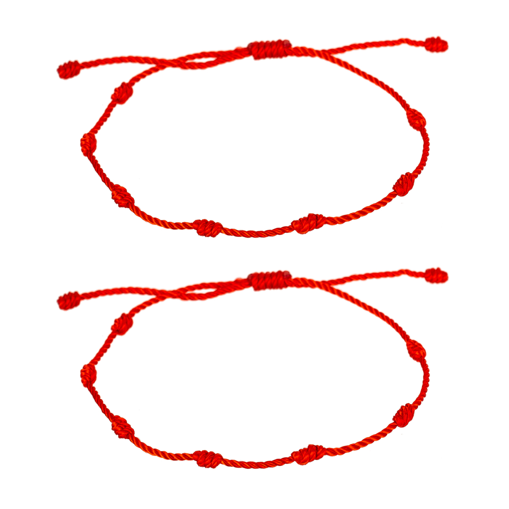 7 Knots Red String Bracelet for Protection, Evil Eye and Good Luck, Amulet for Success and Prosperity, Friendship bracelets