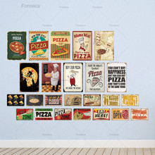 Pizza Zone Tin Sign Plaque Metal Vintage Wall Decor for Cafe Bistro Restaurant Decorative Plate
